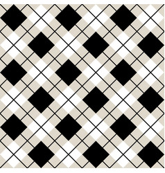 black and white argyle harlequin seamless pattern vector image