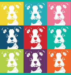 Boston terrior color pattern vector