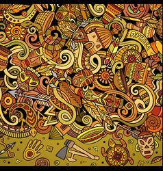 Cartoon cute doodles africa word colorful vector