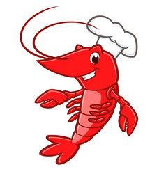 cartoon lobster vector image