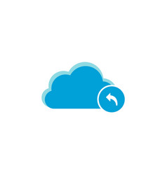 cloud computing icon arrow backward icon vector image