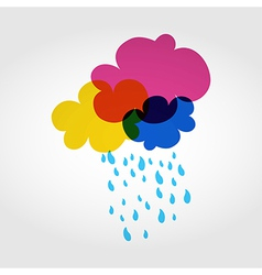Colorful eco friendly clouds vector