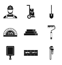 Complexity work icons set simple style vector