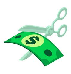 Cut money icon isometric style vector