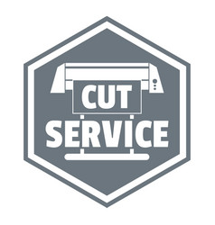 cut service logo simple style vector image