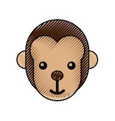 Cute baby monkey animal jungle zoo vector