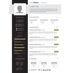CV Design vector image