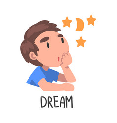Dream word verb expressing action vector