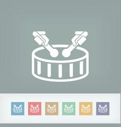 Drum icon vector