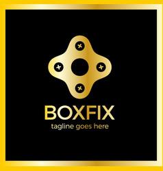 eco box fix logo vector image