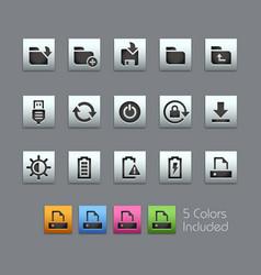 Energy and storage icons - satinbox series vector