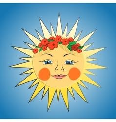 Fabulous sun girl vector image