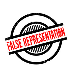 False representation rubber stamp vector