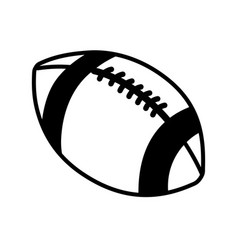 figure american football and his ball icon vector image