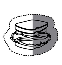 Figure sandwich fast food icon vector