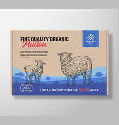 fine quality organic mutton meat packaging vector image