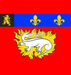 Flag of le havre in seine-maritime of normandy is vector