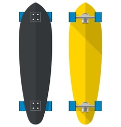 Flat of oval longboards vector image