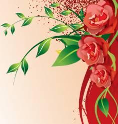 flowers frame vector image