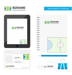 football ground business logo tab app diary pvc vector image
