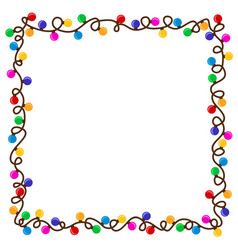 Frame from garland vector