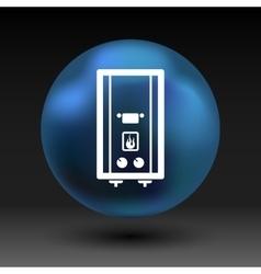 Gas Boiler apparatus tank display thermal vector image
