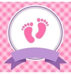 Girl baby shower invitation card vector