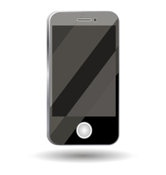 Good phone smart phone mobile with glare on the sc vector