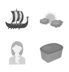 history travel hairdresser and other web icon in vector image