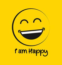 Iam happy logo template design vector