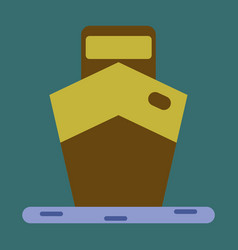 icon in flat design ship vector image