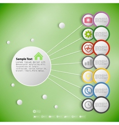 Infographic with colored circles for business vector image