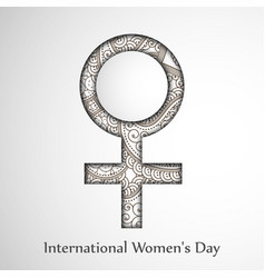 international womens day backgroun vector image
