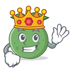 King guava mascot cartoon style vector