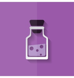 Laboratory medical flask Flat design vector