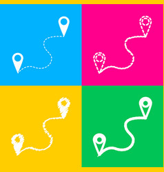 location pin navigation map gps sign four styles vector image