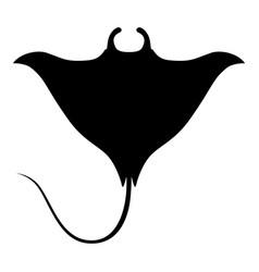 manta ray sign vector image
