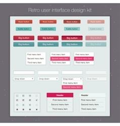 Modern user interface screen template kit for vector image