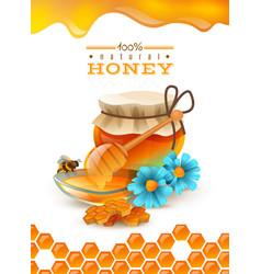 natural honey poster vector image