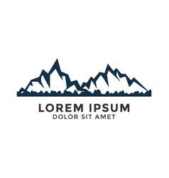 natural mountain logo icon design template vector image
