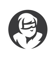 ninja warrior simple silhouette vector image