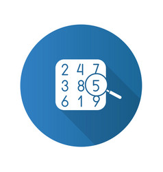 Number theory flat design long shadow glyph icon vector