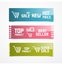 Paper labels tags stickers vector
