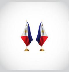 Philippines flag template design vector