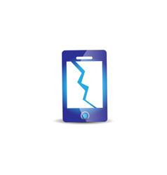 Phone crash repair phone logo design inspiration vector