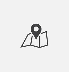 pin map flat icon design gps icon location logo vector image