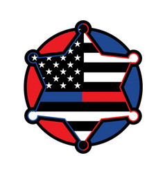 police and firefighter star badge vector image