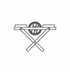 Power-saw bench icon outline style vector