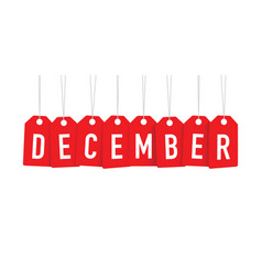 Red december tag vector