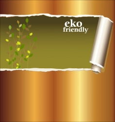 ripped golden paper vector image
